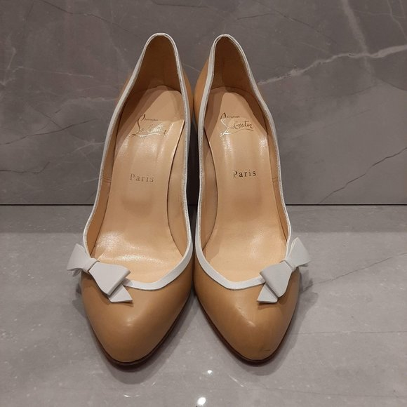Christian Louboutin Nude Bow Pumps
